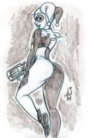 Harley Quinn Daily Quick Sketches 3 by mainasha