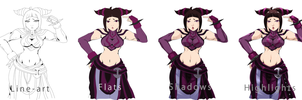 Juri Han: Coz You have no brain (Process) by zeusplara