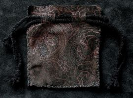 Embossed Leather Pouch by lupagreenwolf