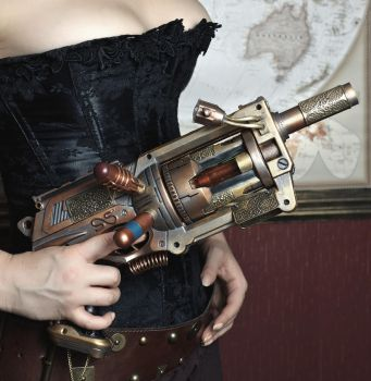 Steampunk Weaponry : The Girl, The Guns : 6 by HyperXP