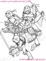 Digisketch TMNT by Inked-Alpha