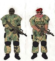 Soldiers and HARM Gang Uniform by Sporthand