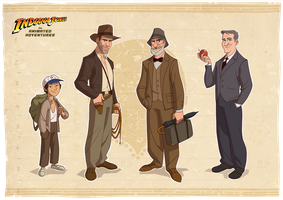 Indiana Jones Modelsheet by PatrickSchoenmaker