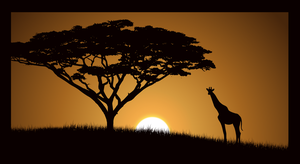 Sunset in Africa by Prudentity