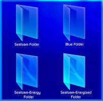 Blue and Seafoam Folder Icons by hdavispi