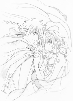 syaoran and sakura by gintan