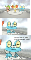 Froakie is in no mood