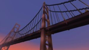 Golden Gate Bridge in Minecraft by Zetoris