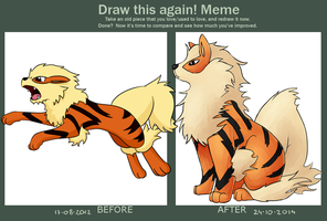 Draw this again!: Arcanine by N-suprem