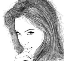 Angelina Jolie - Line Art by ryster17