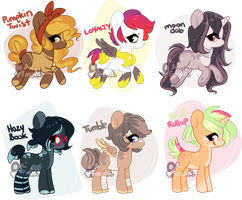 MINI PONY SET 1 [CLOSED] by FossilFoal