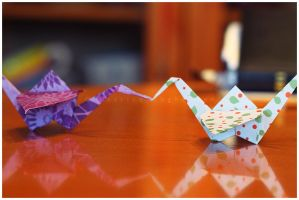 Papercrane love by PatrickRuegheimer