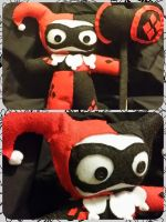 Harley Quinn Plushie-ized with Hammer by DucklingDoodles