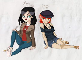 Maria and Lauren - WIP 7 by juanito316ss