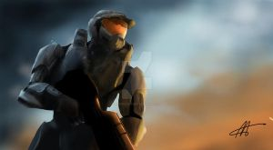 HALO 3 - Master Chief [SPEEDPAINT w/ VIDEO] by XanderComicsInc
