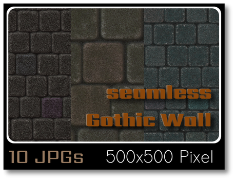 Gothic Wall (seamless) by thobar