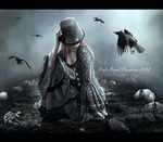 On Dark Grounds by NatsPearlCreation