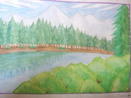 water color Scenery 1 by Xarante