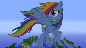 Minecraft Rainbow Dash Pixel Art by DictionMLP