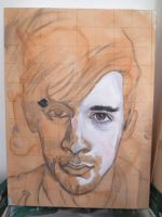 Self portrait unfinished 1 by andytaylor756