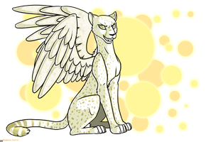 A winged albino cheetah by ScissorsRunner