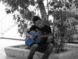 Me with my guitar by nisfor
