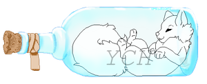 YCH ~ Trapped in a bottle ~ CLOSED by 0MrWright0