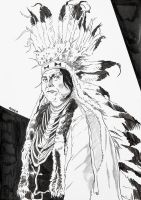 Indian Chief II inked by kaosintesta