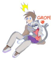 "Mel-chan's new ""grope"" form by Ja-The-Shadow-Hunter"