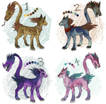 Fangtail ADOPTABLES, CLOSED by Silkkat