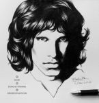 Jim Morrison pen portrait by horizonred