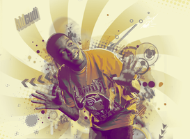 Wallpaper Kid CuDi - vector by ROH2X