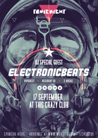 Electronic Beats - A3 Music Party Flyer by Giallo86