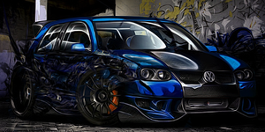 Volskwagen Golf Blue - Tag by SecurityGFX