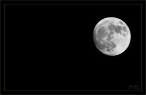 Todays moon at 300mm by deaconfrost78