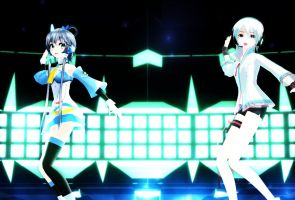 [MMD] GLIDE - Yan He and Tianyi Luo +Vid Link by SapphireRose-chan