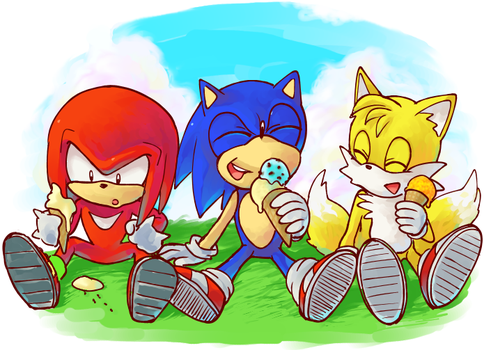 Knuckles Sonic and Tails by JAKCAR