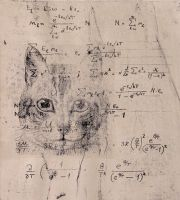 cat and math. by bloodBOT