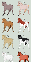 Natural Horse Adopts - OPEN by gyngercookie