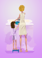 Memories: Cooking with Mommy by Scaff