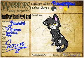 Ravenpaw Reference sheet by TheCluelessCat