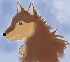 Colored Wolf by artloverrsnp