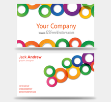 Colorful Business Card Vector Templates by 123freevectors