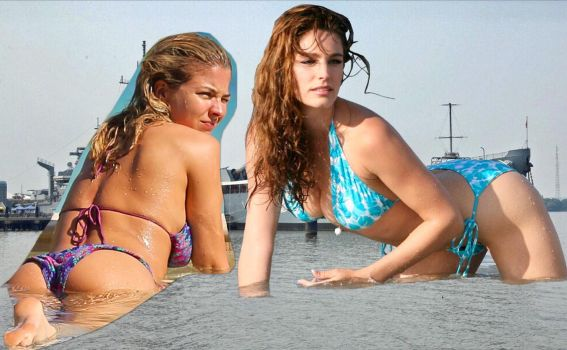GIANTESS GEMMA ATKINSON AND KELLY BROOK by GIANTESSGIRL37