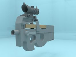 FN-P90 (3Ds Max) by jeoong94
