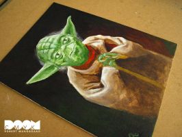Final Yoda Painting closeup 2 by DoomCMYK