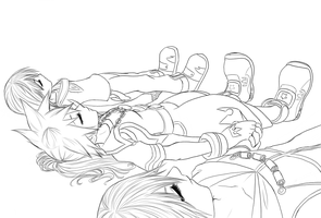 Lineart- Sleeping Forever by Sakuyamon