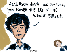 Sherlock: Anderson's IQ by chanso