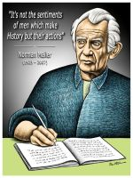 Farewell to Norman Mailer by BenHeine