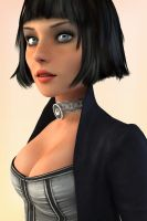 Deep In Thought - Elizabeth (Bioshock Infinite) by Ananina23